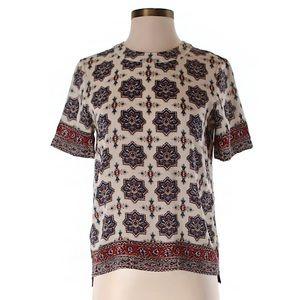 Madewell short-sleeve silk top size XS